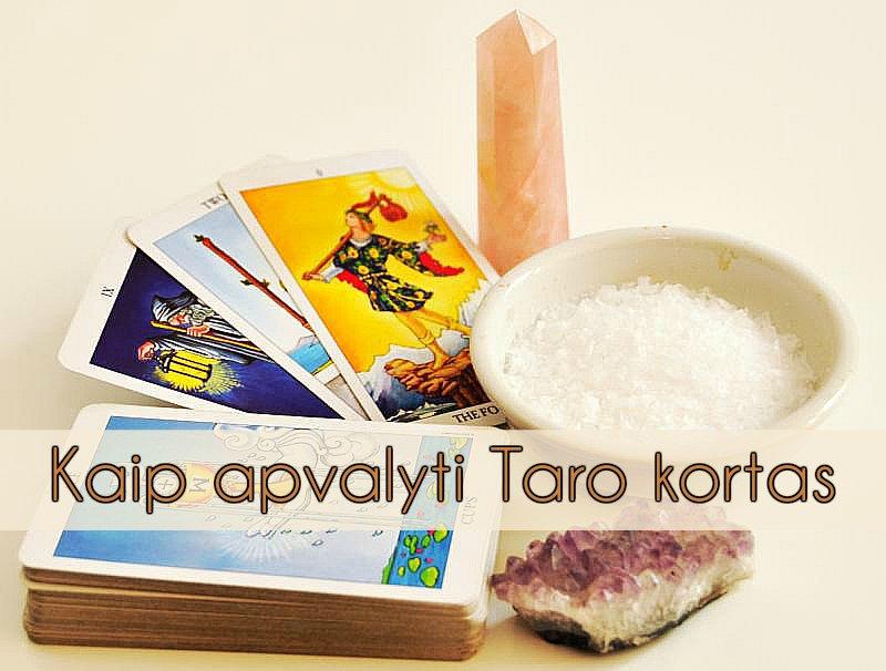 Kaip apvalyti Taro kortas