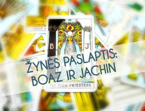 Žynės paslaptis: Boaz ir Jachin