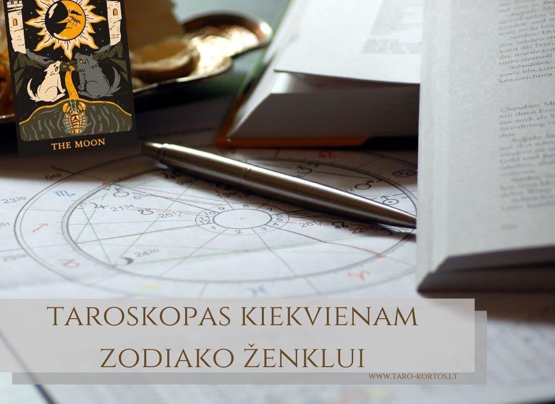taroskopas kiekvienam zodiako zenklui
